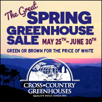Spring Greenhouse Sale